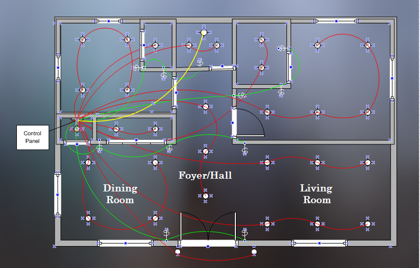 lighting plan diagram